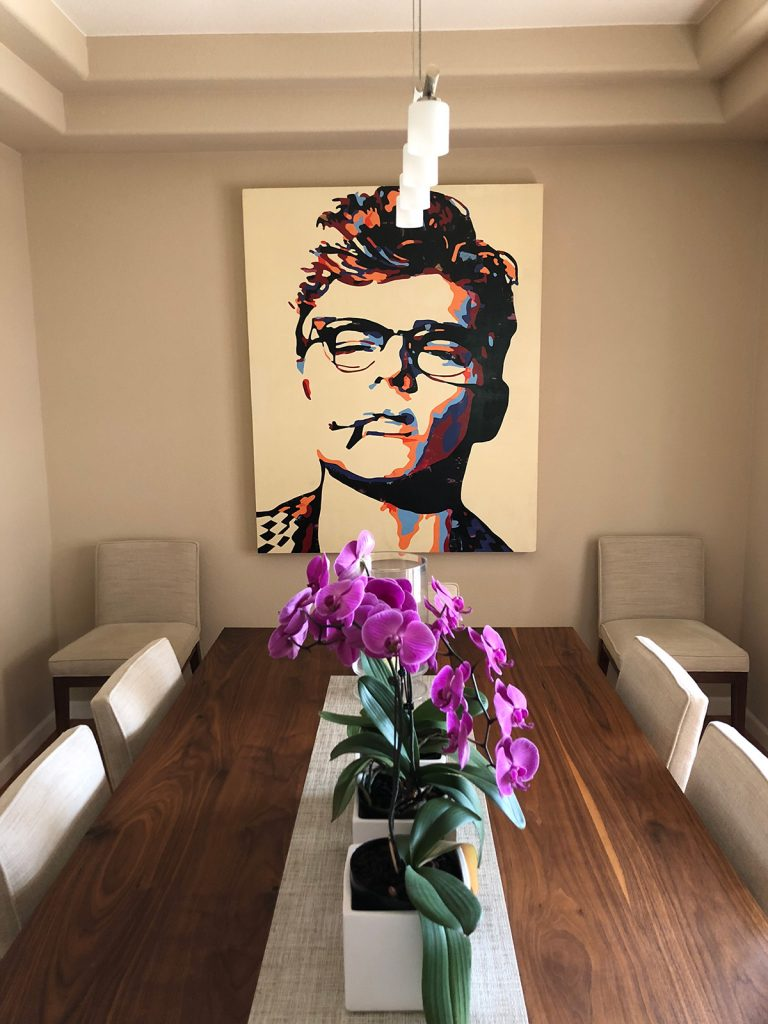James Dean painting in home