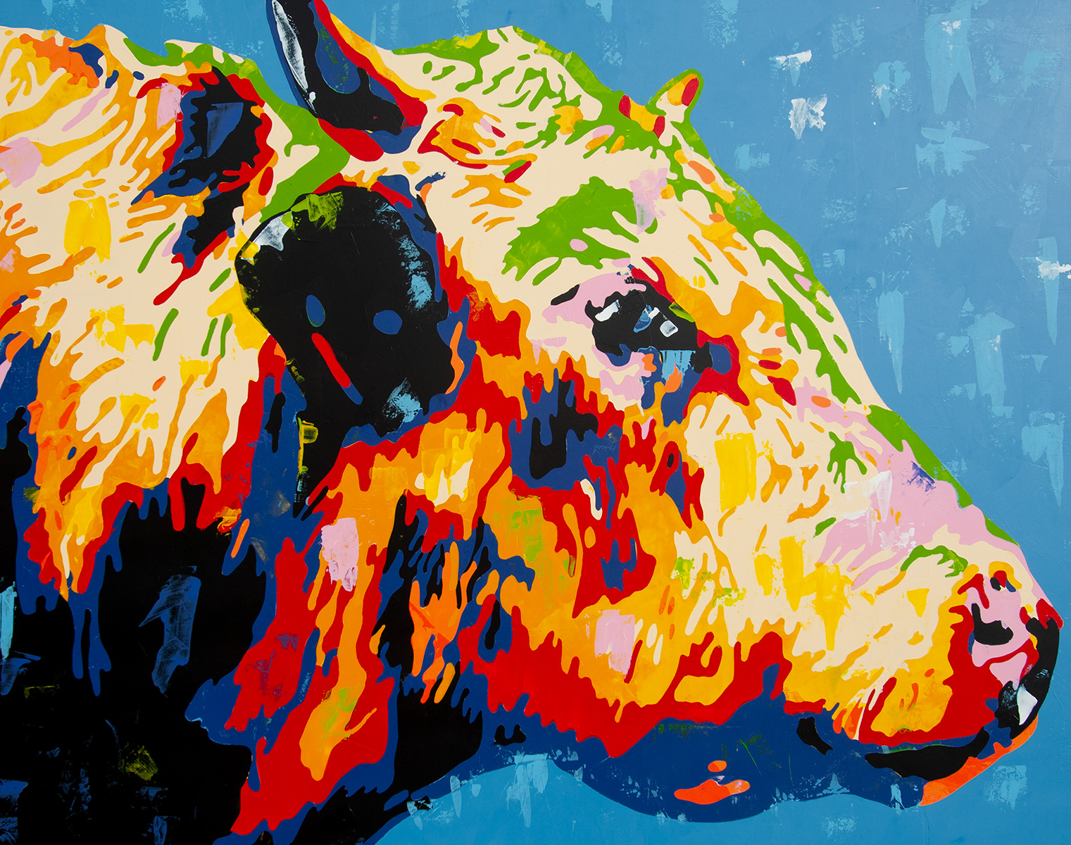 Abstract Cow painting