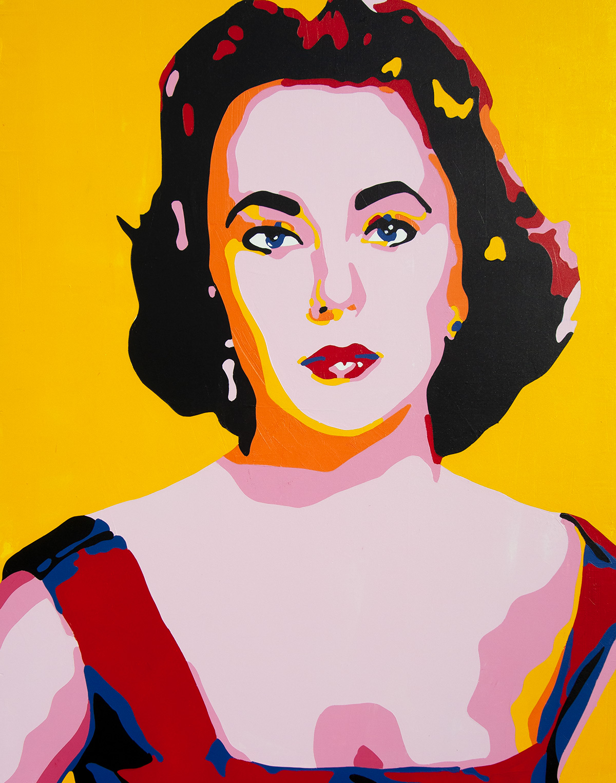 Liz Taylor painting